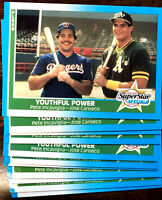 1987 Fleer GLOSSY JOSE CANSECO ~ 50 CARDS LOT~ YOUTHFUL POWER w/ PETE INCAVIGLIA