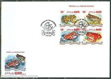 MALDIVES 2014 FROGS OF THE INDIAN OCEAN  SHEET FIRST DAY COVER
