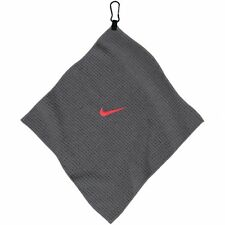 "Nike Golf Microfiber Player Towel N86451 Dark Grey/Red (14"" x 14"") #68135"