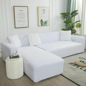 Plain Corner Sofa Covers For Elastic Spandex Couch Cover Stretchs L Shape Sofa