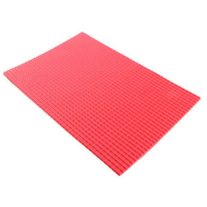 10x 1/25 Scale Tile Sheet PVC Material Railway Layout Architecture DIY Red