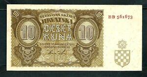 Croatia (P5) 10 Kuna 1941 aVF