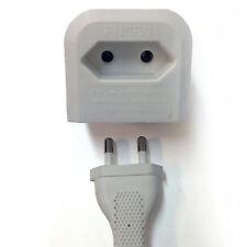 Plug Adaptor flat shuko Europlug 2 pin  to UK 3 pin socket adapter in white