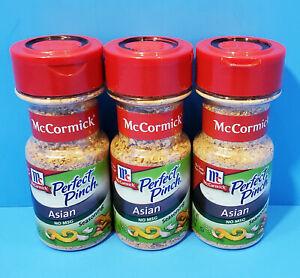 3x McCormick Perfect Pinch Asian Seasoning 2.5oz BB 06/19 DISCONTINUED