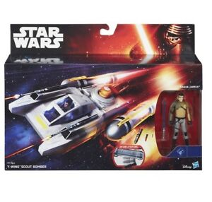 STAR WARS Y-WING SCOUT BOMBER + KANAN JARRUS FORCE AWAKENS VEHICLE NEW IN HAND