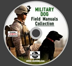 MILITARY DOG TRAINING BOOKS COLLECTION on CD