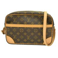 Louis Vuitton Trocadero 27 M51274 Monogram Canvas Crossbody Bag Brown France LV