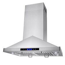 "30"" Island Mount Stainless Steel Kitchen Range Hood Vent Exhaust Fan"