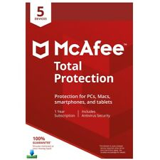 McAfee TOTAL PROTECTION 2020 5 Devices 1 Year Mac Windows Android + VPN - KEY