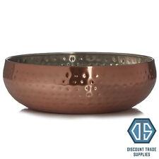 Rose Gold Centrepiece Copper Fruit Bowl Decor Display Hammered Serving Dish