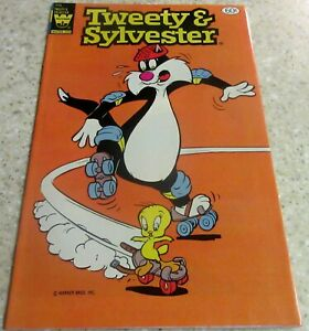 Tweety and Sylvester 115 (NM- 9.2) Out of 3 pack, rare yellow Whitman emblem!