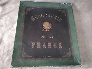 jeu ancien grand puzzle CARTE DE LA FRANCE edition JL JULLIEN france fin XIX eme
