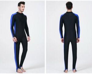 Men's Neoprene One-piece Sunscreen Long-sleeved Wetsuit for Swimming Surfing