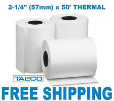 (100) Thermal Paper Rolls 2-1/4 X 50 Verifone Vx520 ~Free Shipping~