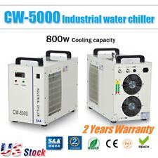 US Stock- CW-5000DG Industrial Water Chiller for CO2 Glass Lasser Tube Cooling