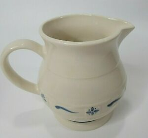 Longaberger Blue Woven Traditions Heritage Pottery 1 Qt Juice Water Pitcher 1991