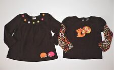 GYMBOREE FALL FOR AUTUMN LOT OF 2 BROWN LONG SLEEVE  SHIRTS SHIRT  (B38) SZ 2 2T