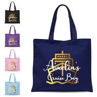 Personalised Cruise Ship Tote Bag, Shoulder Bag, Cruise Holiday Gift