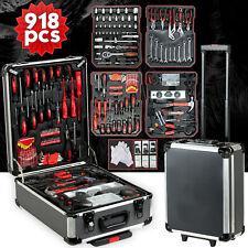 918 pcs Standard Metric Mechanics Kit Tool Set Case Box Organize Castors Trolley