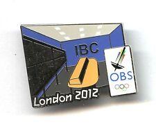 Summer Olympic Media Pin Badge LONDON 2012  ibs obs badge