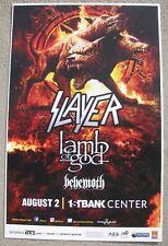 SLAYER  Lamb of God 1st Bank - Denver, Colorado 11x17 Concert Flyer / Gig Poster