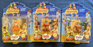 Chicken Run (3) Action Figures Ginger, Rocky w/Spy Scope & Grappling Hook NIP
