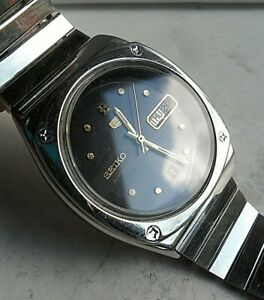 Orig. Clean Vintage 1991 S/S Men's Seiko 5 Automatic Day Date Watch 7009-535A