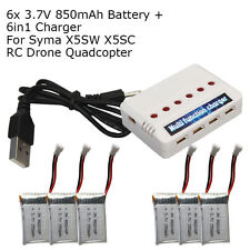 6PCS batteries+6in1 charger Set for Syma X5C-1 X5C X5SW X5SC 2.4G Quard Drone