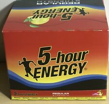 5 Hour Energy Pink Lemonade 12 Count Box 1.93 oz Shots Sugar Free Factory Sealed