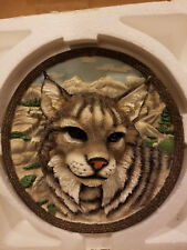 Faces of the Wild: The Bobcat Collector Plate 3D 4th Issue Bradford Exchange