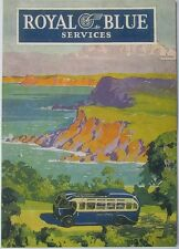 Pack of 15 New Vintage Ad Gallery Postcards: Royal Blue Bus