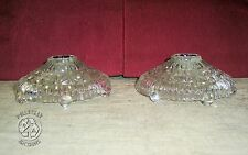 Vintage Pair Clear Pressed Glass Candle holders