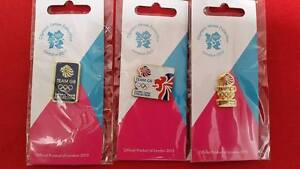 Olympics London 2012 Pin - 3 x Team GB Olympic Venue Collection Pin Badges £6.00