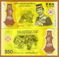 Brunei, 50 Ringgit, 2017, Polymer, P-New, UNC > Golden Jubilee, Commemorative
