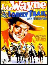 FILM LONELY TRAIN WESTERN DRAMA JOHN WAYNE DUKE USA ART POSTER PRINT CC6412