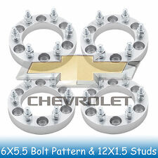 "1"" Chevy Wheel Spacers 6x5.5 to 6x5.5 with 12x1.5 Studs for Colorado 2004-2012"