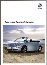 Volkswagen Beetle Cabriolet 2009-10 German Market Sales Brochure