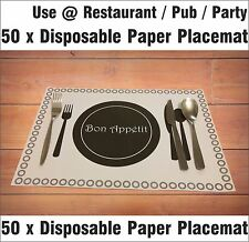 50 X A3 Disposable Paper Place mats Place Mats Dining Table Placemats Catering