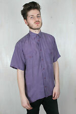 Unbranded Silk Short Sleeve Casual Shirts & Tops for Men