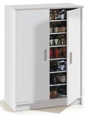 Armoire à chaussures avec 2 portes et 6 étageres ( 30 paires ), blanche