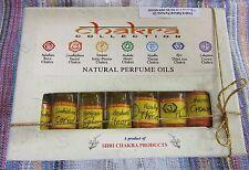 Chakra Collection Natural Perfume Oils Set of 7 3ml Spiritual Healing New Age