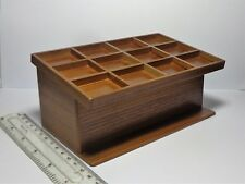 1:12 Scale Empty Wooden 12 Section Counter Dolls House Miniature Shop