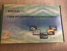 New In Box Digital 7Inch TFT LCD Monitor VGA Touchscreen