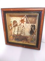 Nautical wooden Shadow Box Collectable! Ship worthy!