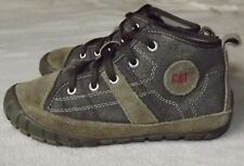 CATERPILLAR..UK 1..CAT BOOTS WIDE BROWN CANVAS CASUAL TRAINERS..EUR 33..SHOES