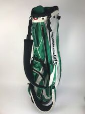 TaylorMade Green White 7 WAY Dividers CARRY STAND GOLF BAG 5 POCKET Nice