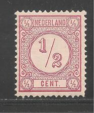 Netherlands #34 (A7) VF MINT LH - 1876 1/2c Numeral Of Value (Rose II)