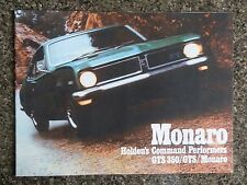 1970 HOLDEN HG MONARO BROCHURE,PLUS MATCHING COLOUR CHART 100% GUARANTEE