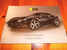 Prospekt Brochure FERRARI 2016 Genuine Accessories In Range Car Models NEU