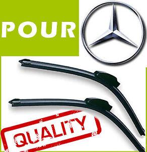 2 BALAIS ESSUIE GLACE AERO pour Mercedes E classe w211 2002-2009